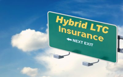 "Road sign with the words ""Hybrid LTC Next Exit"""