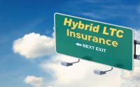 """Road sign with the words """"Hybrid LTC Next Exit"""""""