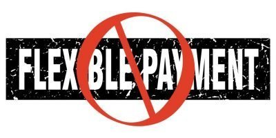 No symbol over flexible payment stamp