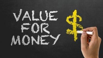 Value for Money chalkboard